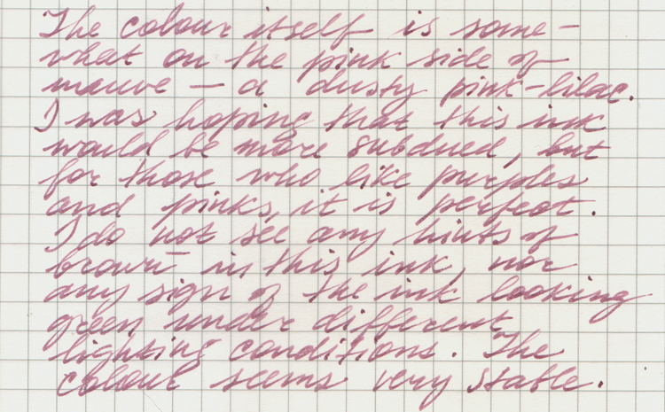 Noodler S Highland Heather Ink Reviews The Fountain Pen Network