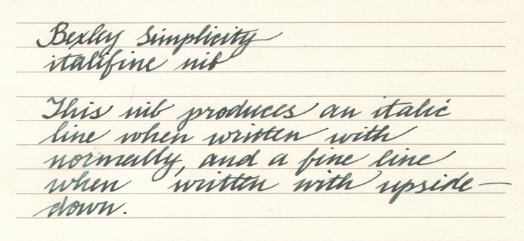 Copperplate Handwriting Samples